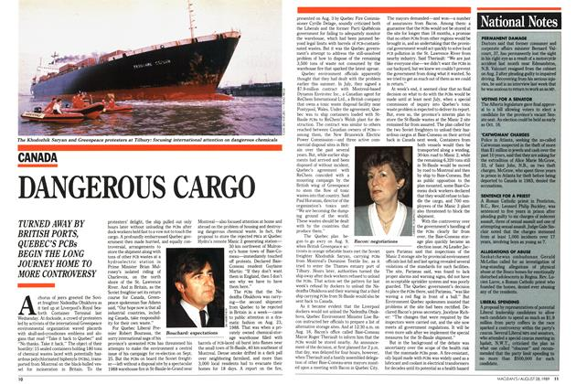 Article Preview: DANGEROUS CARGO, August 1989 | Maclean's