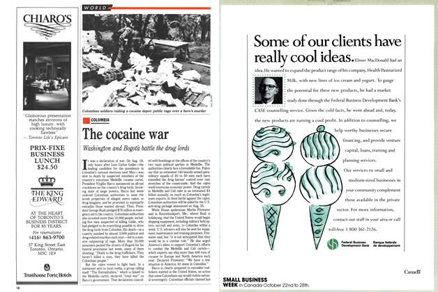 Article Preview: The cocaine war, September 1989 | Maclean's