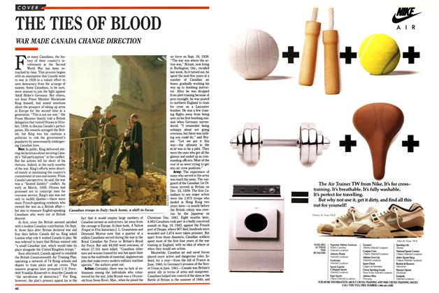 Article Preview: THE TIES OF BLOOD, September 1989 | Maclean's