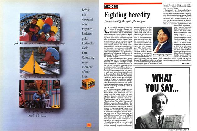 Article Preview: Fighting heredity, September 1989 | Maclean's
