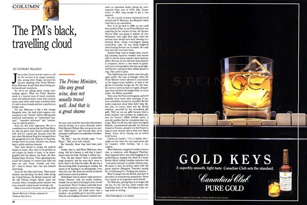 Article Preview: The PM's black, travelling cloud, September 1989 | Maclean's