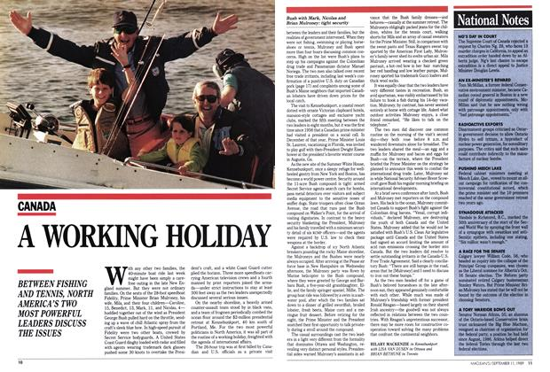 Article Preview: A WORKING HOLIDAY, September 1989 | Maclean's