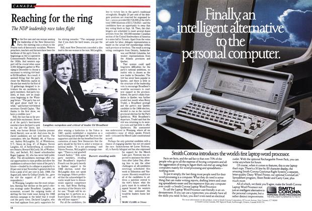 Article Preview: Reaching for the ring, September 1989 | Maclean's