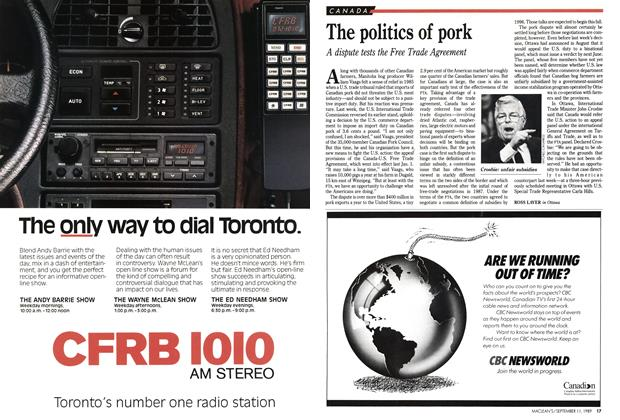Article Preview: The politics of pork, September 1989 | Maclean's