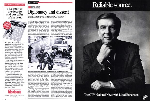 Article Preview: Diplomacy and dissent, September 1989 | Maclean's