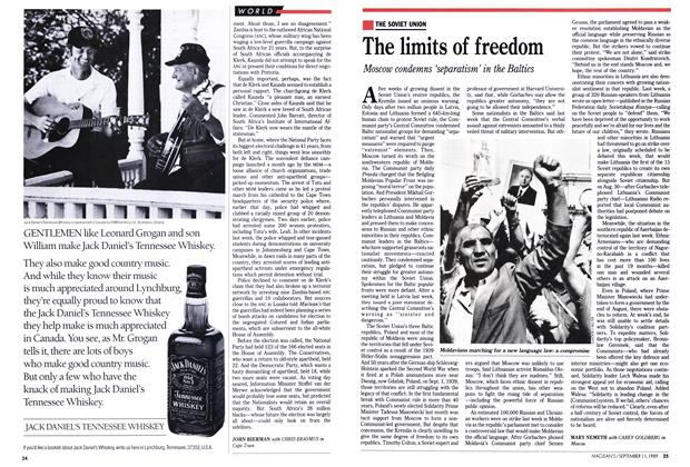 Article Preview: The limits of freedom, September 1989 | Maclean's