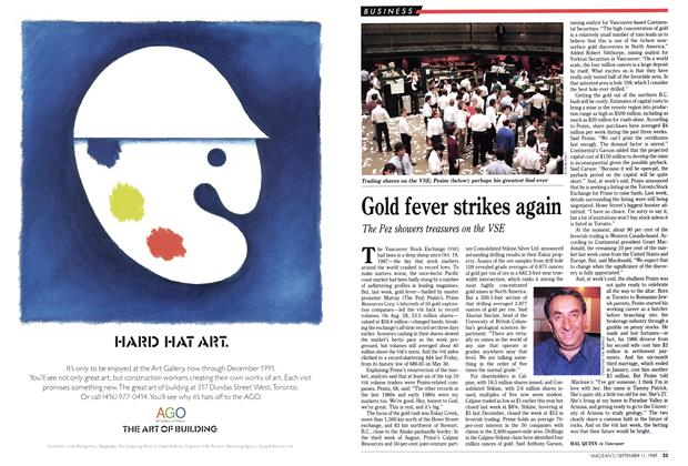 Article Preview: Gold fever strikes again, September 1989 | Maclean's