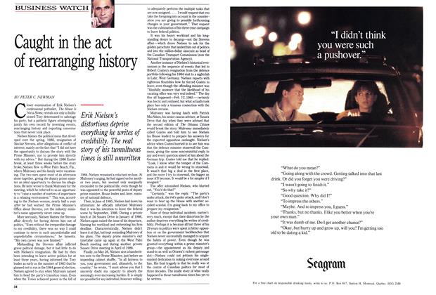 Article Preview: Caught in the act of rearranging history, September 1989 | Maclean's