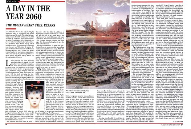 Article Preview: A DAY IN THE YEAR 2060, September 1989 | Maclean's