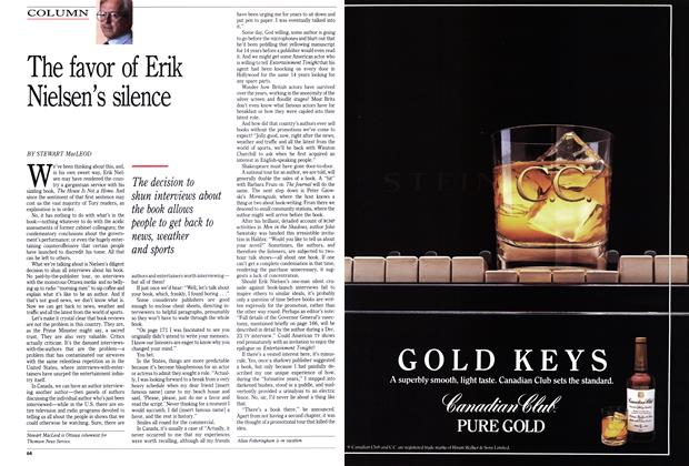 Article Preview: The favor of Erik Nielsen's silence, September 1989 | Maclean's