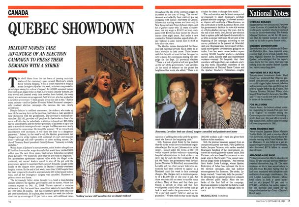 Article Preview: QUEBEC SHOWDOWN, September 1989 | Maclean's