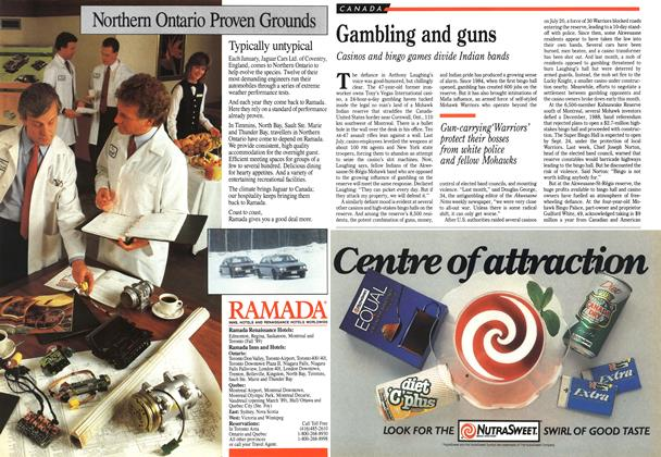 Article Preview: Gambling and guns, September 1989 | Maclean's