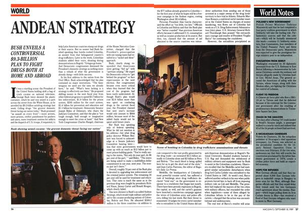 Article Preview: ANDEAN STRATEGY, September 1989 | Maclean's