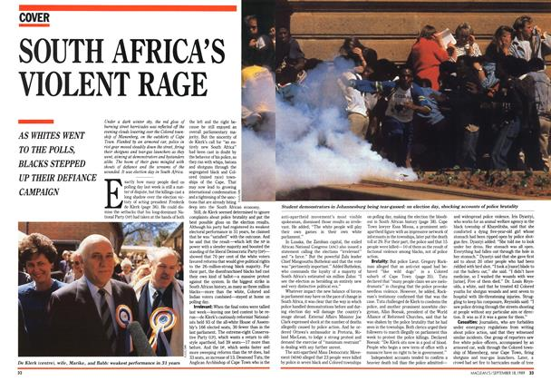 Article Preview: SOUTH AFRICA'S VIOLENT RAGE, September 1989 | Maclean's