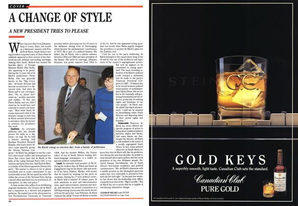 Article Preview: A CHANGE OF STYLE, September 1989 | Maclean's
