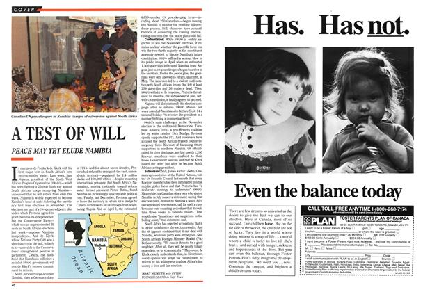 Article Preview: A TEST OF WILL, September 1989 | Maclean's