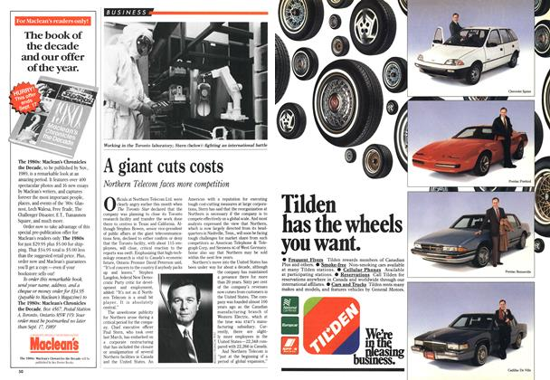 Article Preview: A giant cuts costs, September 1989 | Maclean's