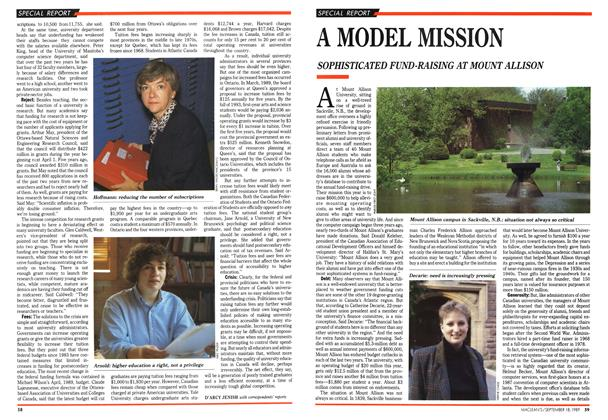Article Preview: A MODEL MISSION, September 1989 | Maclean's