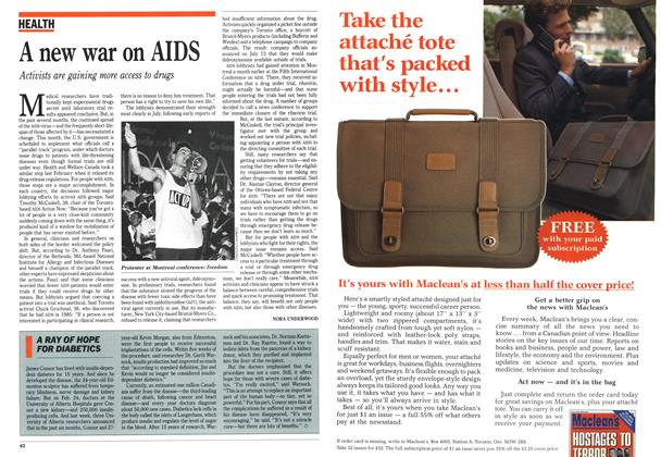 Article Preview: A new war on AIDS, September 1989 | Maclean's