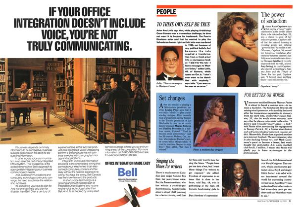Article Preview: PEOPLE, September 1989 | Maclean's