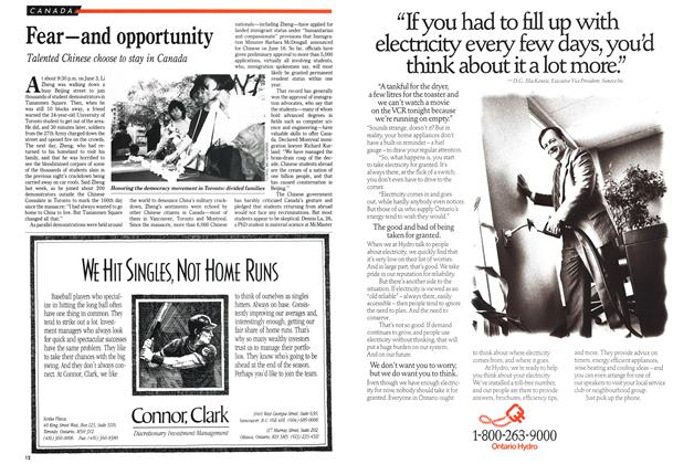 Article Preview: Fear—and opportunity, September 1989 | Maclean's