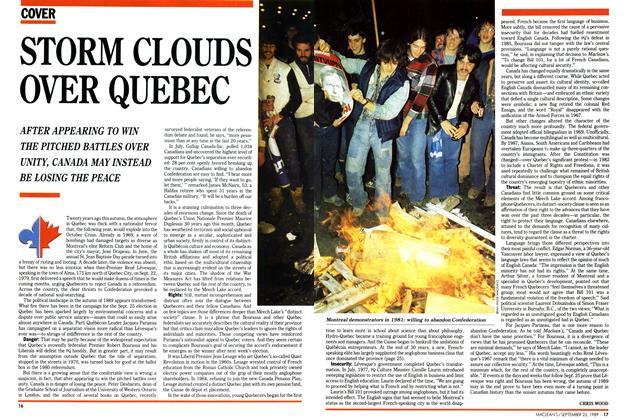 Article Preview: STORM CLOUDS OVER QUEBEC, September 1989 | Maclean's