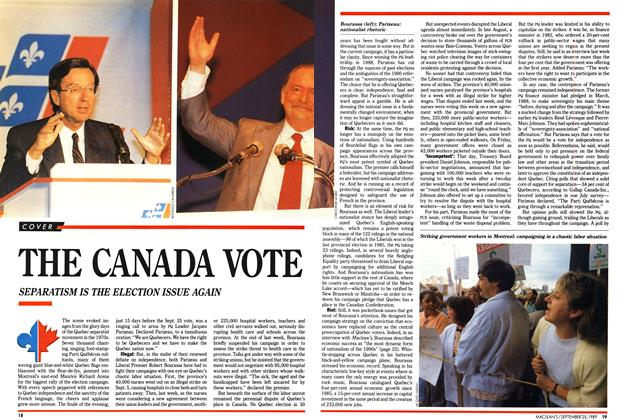 Article Preview: THE CANADA VOTE, September 1989 | Maclean's