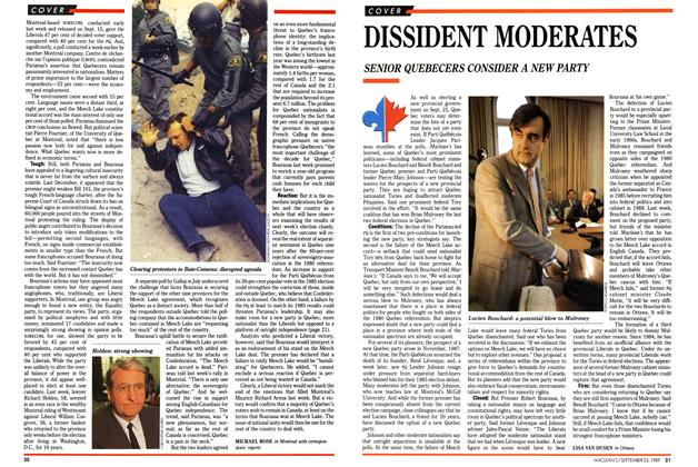 Article Preview: DISSIDENT MODERATES, September 1989 | Maclean's