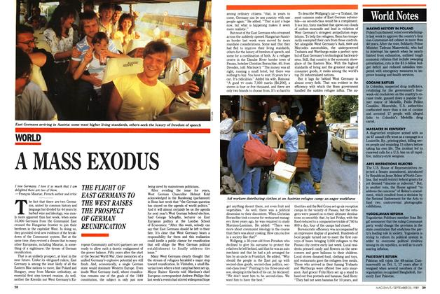 Article Preview: A MASS EXODUS, September 1989   Maclean's