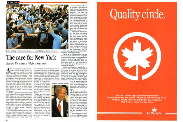 Article Preview: The race for New York, September 1989 | Maclean's