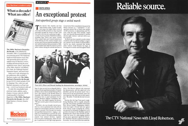 Article Preview: An exceptional protest, September 1989 | Maclean's