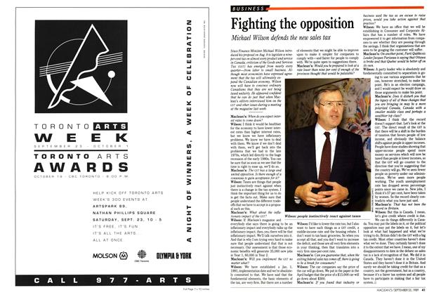 Article Preview: Fighting the opposition, September 1989 | Maclean's