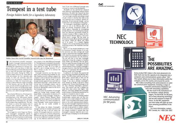 Article Preview: Tempest in a test tube, September 1989 | Maclean's