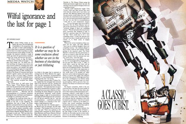 Article Preview: Wilful ignorance and the lust for page 1, September 1989 | Maclean's