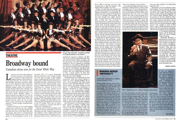 Article Preview: BANANA-NOSED VIRTUOSITY, September 1989 | Maclean's