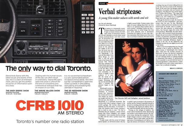 Article Preview: Verbal striptease, September 1989 | Maclean's