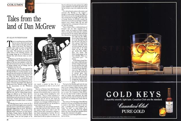 Article Preview: Tales from the land of Dan McGrew, September 1989 | Maclean's