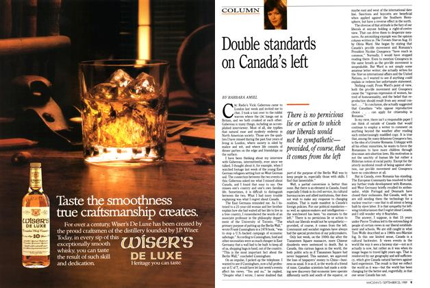 Article Preview: Double standards on Canada's left, September 1989 | Maclean's