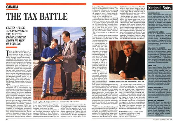 Article Preview: THE TAX BATTLE, October 1989   Maclean's