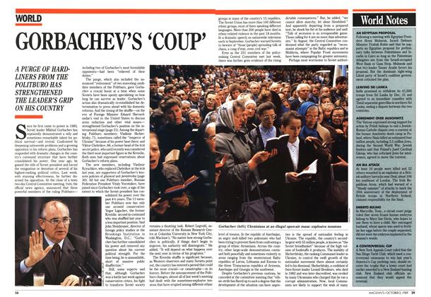 Article Preview: GORBACHEV'S 'COUP', October 1989 | Maclean's