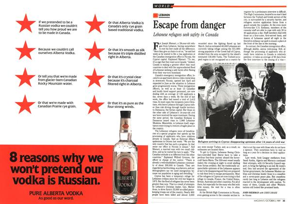 Article Preview: Escape from danger, October 1989 | Maclean's