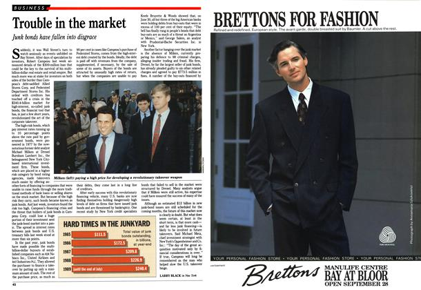 Article Preview: Trouble in the market, October 1989 | Maclean's