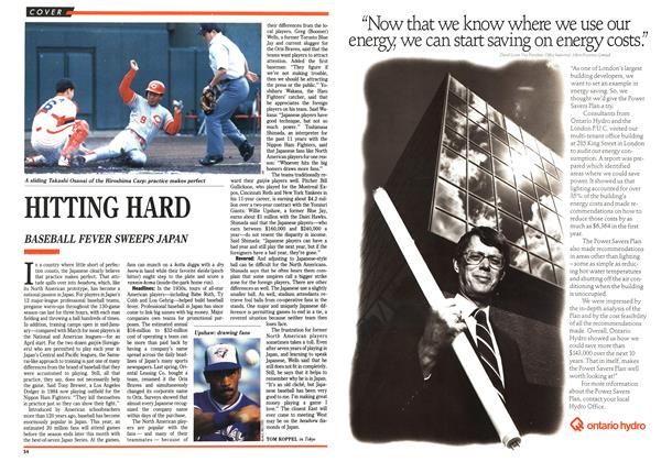 Article Preview: HITTING HARD, October 1989   Maclean's