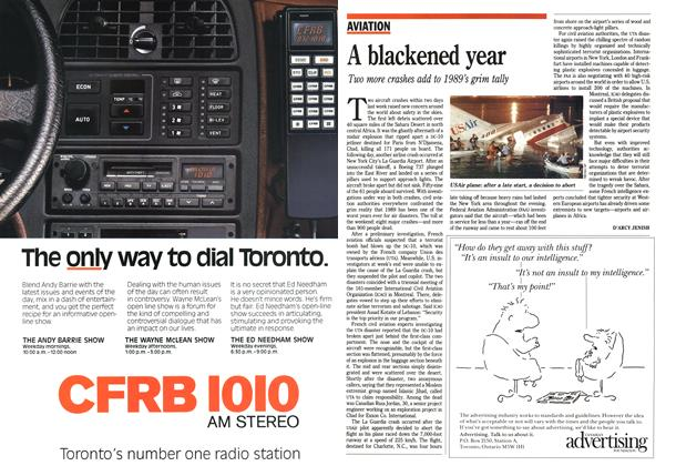 Article Preview: A blackened year, October 1989 | Maclean's