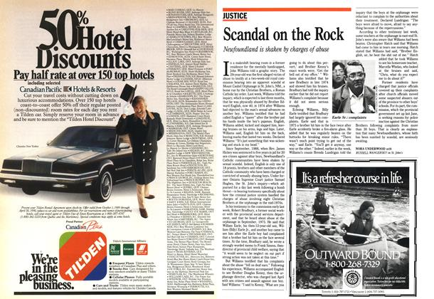 Article Preview: Scandal on the Rock, October 1989 | Maclean's