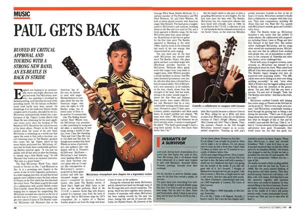 Article Preview: PAUL GETS BACK, October 1989 | Maclean's