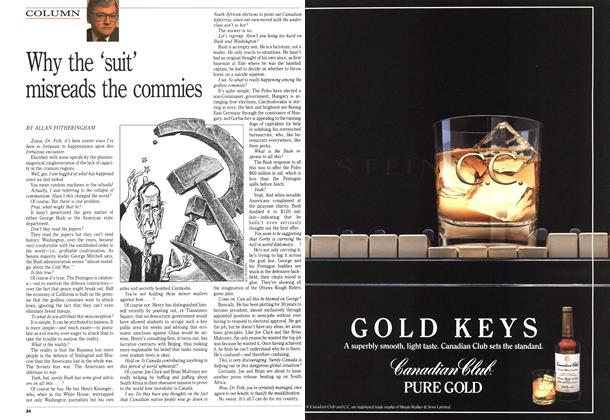 Article Preview: Why the 'suit' misreads the commies, October 1989 | Maclean's