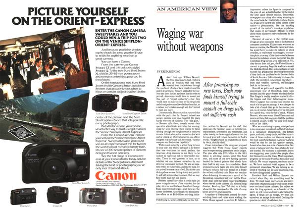 Article Preview: Waging war without weapons, October 1989 | Maclean's