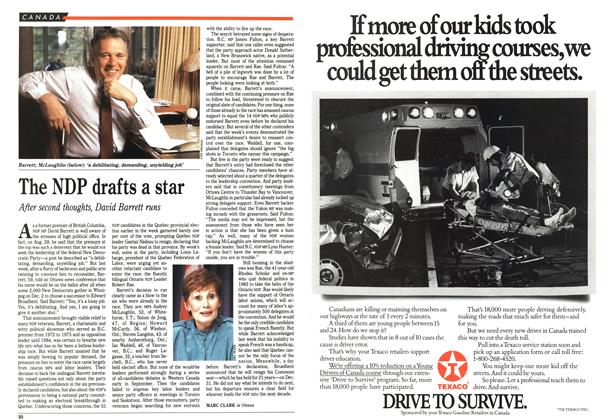 Article Preview: The NDP drafts a star, October 1989 | Maclean's