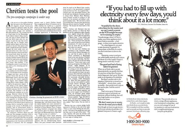 Article Preview: Chrétien tests the pool, October 1989 | Maclean's